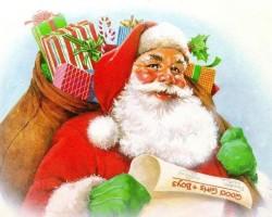 Mos Craciun cu cadouri